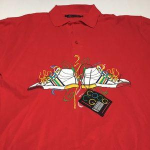 Coogi Men's red polo shirt embroidered logo 3 XL